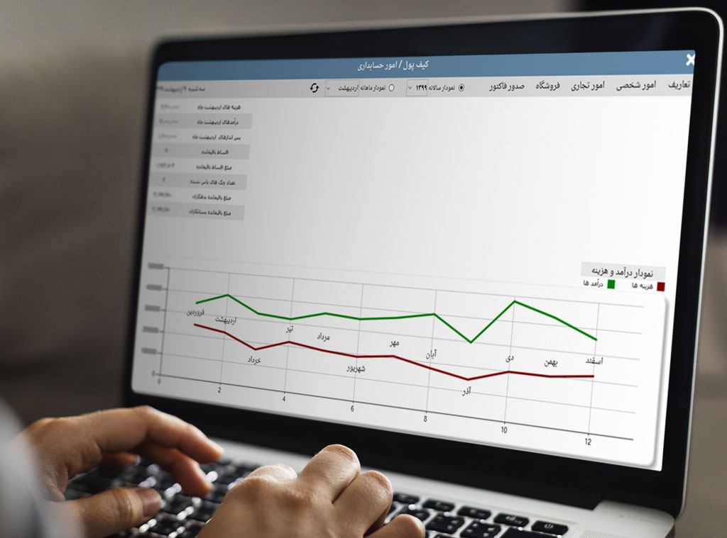 صفحه اصلی نرم افزار حسابداری شخصی وان ریمایند