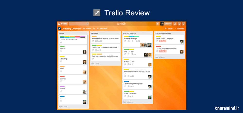 نرم افزار مدیریت پروژه ترلو Trello